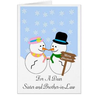 Tarjeta de Navidad de la hermana y del cuñado del