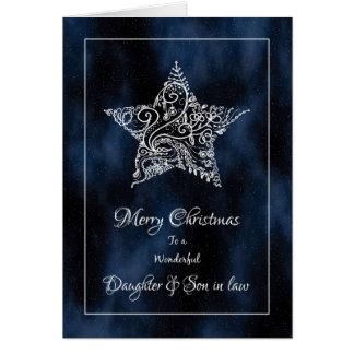 Tarjeta de Navidad de la hija y del yerno