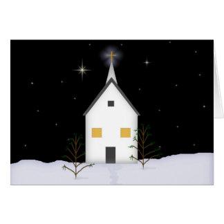 Tarjeta de Navidad de la iglesia del país