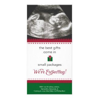 Tarjeta de Navidad de la invitación del embarazo Tarjeta Fotográfica Personalizada