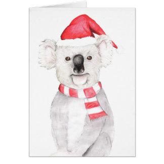 Tarjeta de Navidad de la koala