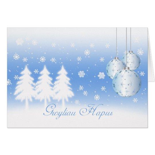 Tarjeta de Navidad de la lengua Galés Gwyliau