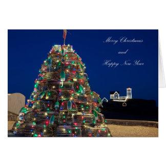 Tarjeta de Navidad de la luz de la protuberancia