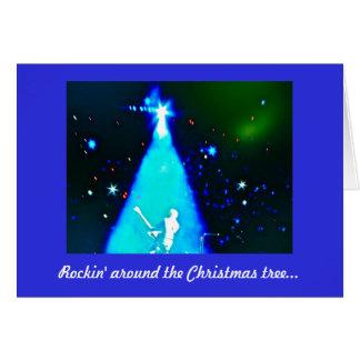 Tarjeta de Navidad de la música del rollo del n de
