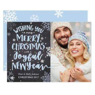 Tarjeta de Navidad de la nieve del invierno Invitación 12,7 X 17,8 Cm