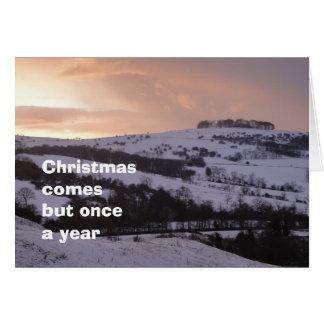 Tarjeta de Navidad de la opinión Nevado