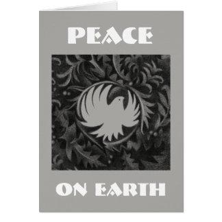 Tarjeta de Navidad de la paloma de la paz del