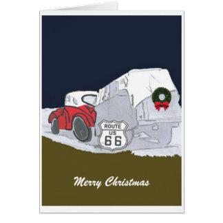 Tarjeta de Navidad de la ruta 66