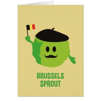 Tarjeta de Navidad de las coles de Bruselas