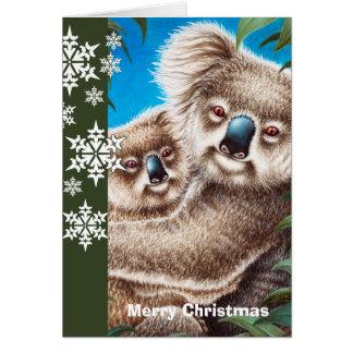 Tarjeta de Navidad de las koalas