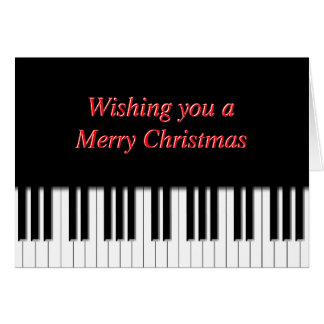 Tarjeta de Navidad de las llaves de teclado de