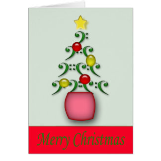 Tarjeta de Navidad de las notas musicales