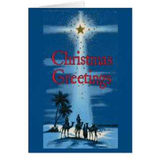 Tarjeta de Navidad de los hombres sabios del