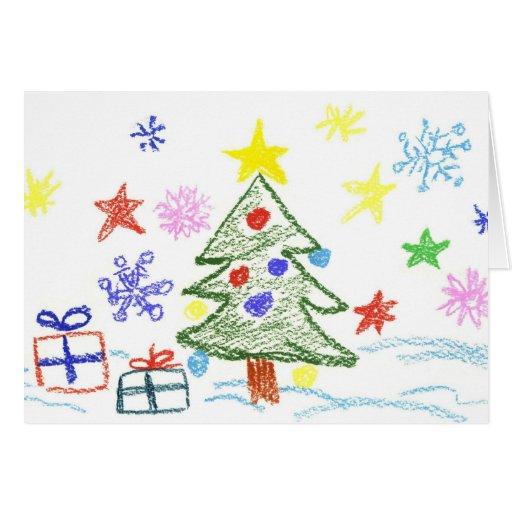 Tarjeta de navidad de los ni os para que ellos den zazzle - Tarjetas de navidad de ninos ...