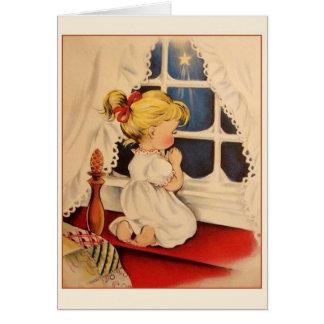 Tarjeta de Navidad de los rezos del navidad del