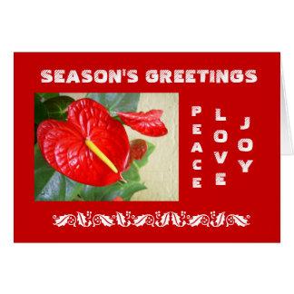 Tarjeta de Navidad de los saludos de la estación