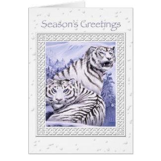 Tarjeta de Navidad de los tigres del hielo
