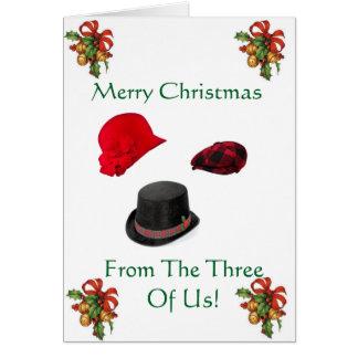 Tarjeta de Navidad de los tres de nosotros