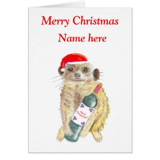 Tarjeta de Navidad de Meerkat, adaptable