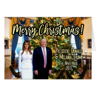 Tarjeta de Navidad de Melania Donald Trump de la