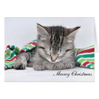 Tarjeta de Navidad de Meowy