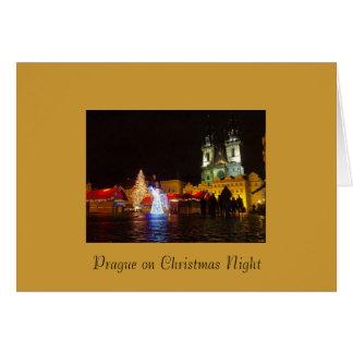 Tarjeta de Navidad de Praga
