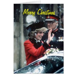 Tarjeta de Navidad de princesa Diana