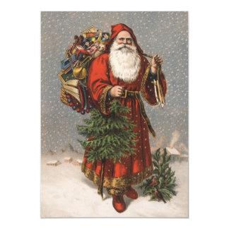 Tarjeta de Navidad de Santa del alemán Invitación 12,7 X 17,8 Cm