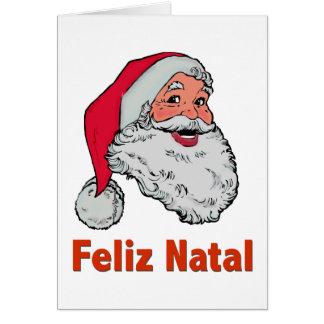 Tarjeta de Navidad de Santa del portugués