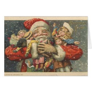 Tarjeta de Navidad de Santa del Victorian