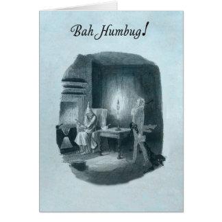Tarjeta de Navidad de Scrooge del embaucamiento de