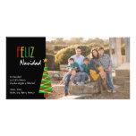 Tarjeta de Navidad de Vibrante Feliz Navidad Foto Tarjeta Personal Con Foto