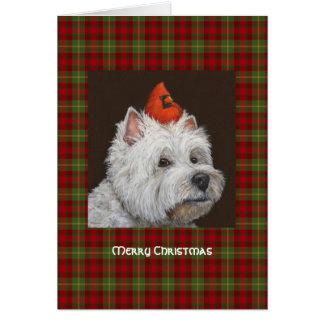 Tarjeta de Navidad de Westie