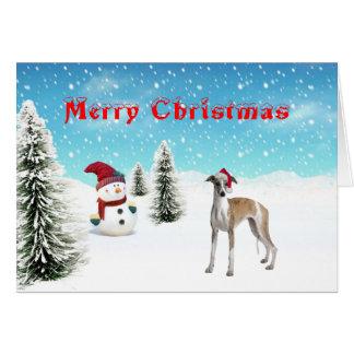 Tarjeta de Navidad de Whippet