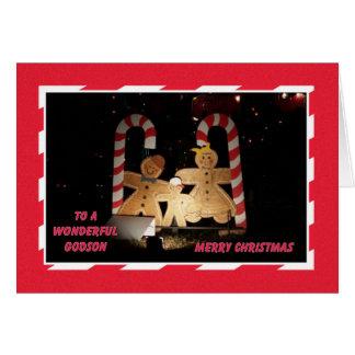 Tarjeta de Navidad del ahijado -- Pan de jengibre