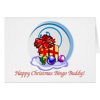 Tarjeta de Navidad del amante del bingo