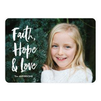 Tarjeta de Navidad del amor de la esperanza de la Invitación 12,7 X 17,8 Cm