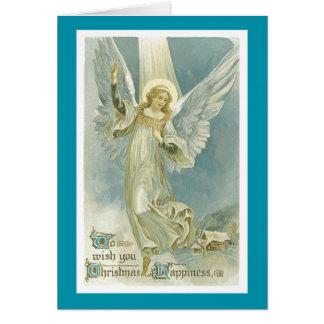 Tarjeta de Navidad del ángel del navidad