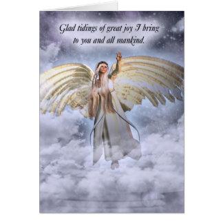 Tarjeta de Navidad del ángel religiosa