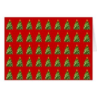 Tarjeta de Navidad del árbol de la manopla