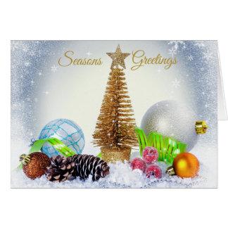 Tarjeta de Navidad del árbol de los ornamentos de