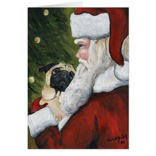 """Tarjeta de Navidad del arte del perro del """"barro"""