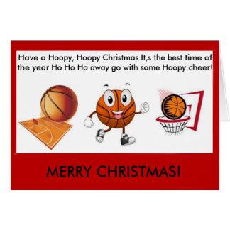 Tarjeta de Navidad del baloncesto de Hoopy Hoopy