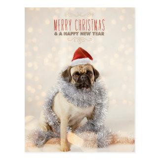 Tarjeta de Navidad del barro amasado Postal
