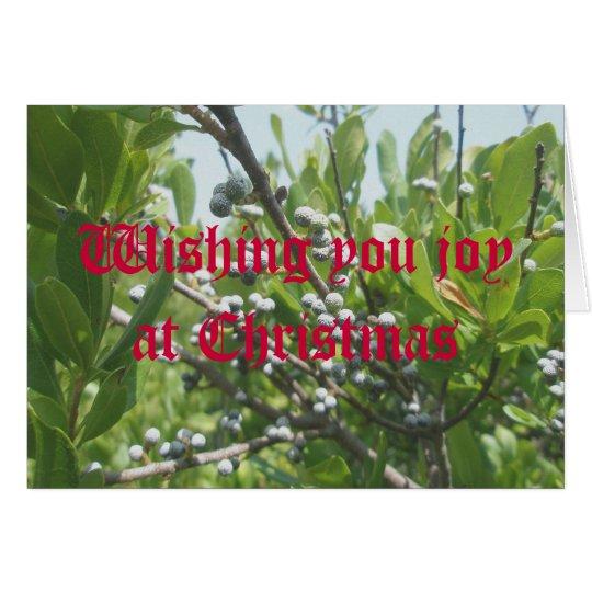 Tarjeta de Navidad del Bayberry