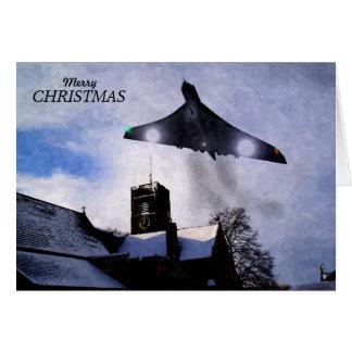 Tarjeta de Navidad del bombardero de Vulcan