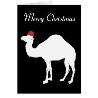 Tarjeta de Navidad del camello
