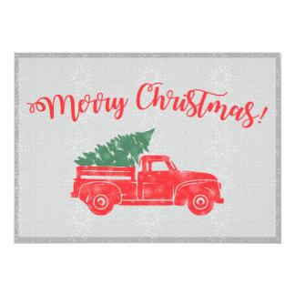 Tarjeta de Navidad del camión del vintage