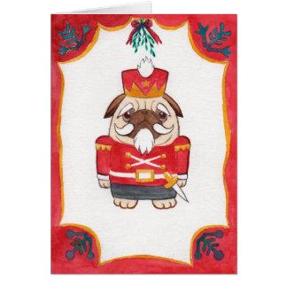 tarjeta de Navidad del cascanueces del barro