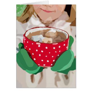 Tarjeta de Navidad del chocolate caliente